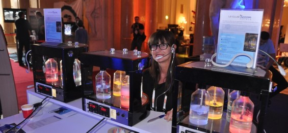 Verena of 1030 Innovation Consulting at the scented oxygen bar