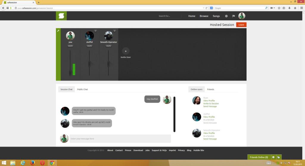 screenshot session