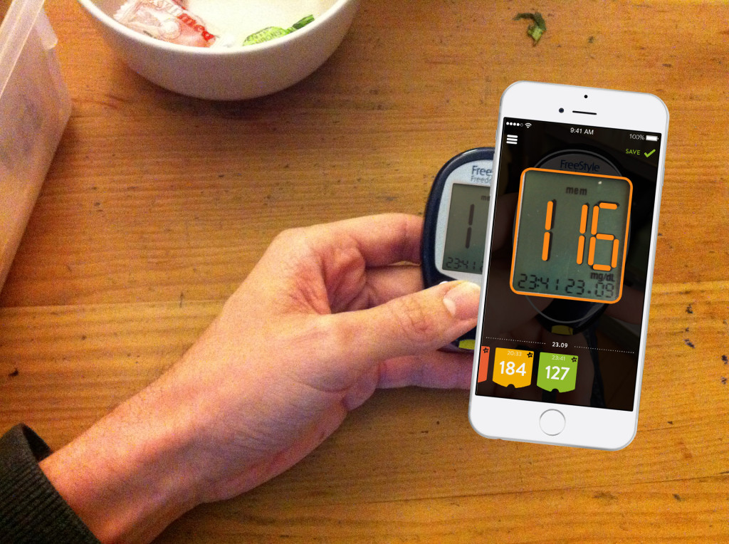 The mySugr Importer scans data from blood sugar meters, photo © mySugr