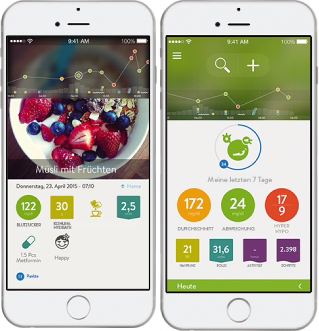 The mySugr Logbook App, photo © mySugr