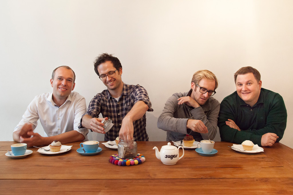 The mySugr co-founders: (from left) Frank Westermann, Gerald Stangl, Fredrik Debong and Michael Forisch, photo © mySugr